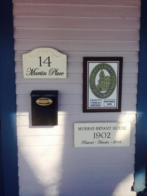 Heavilin House Signs 2