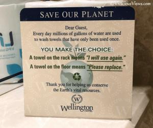 Wellington Hotel. Save Our Planet. Vivacious Views