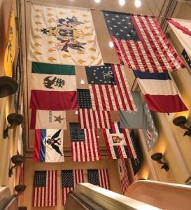 Memorial Day at Disney World. Epcot American Adventure Flags. Vivacious Views