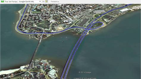 Tour de Floripa Sobrevoo via Google Earth