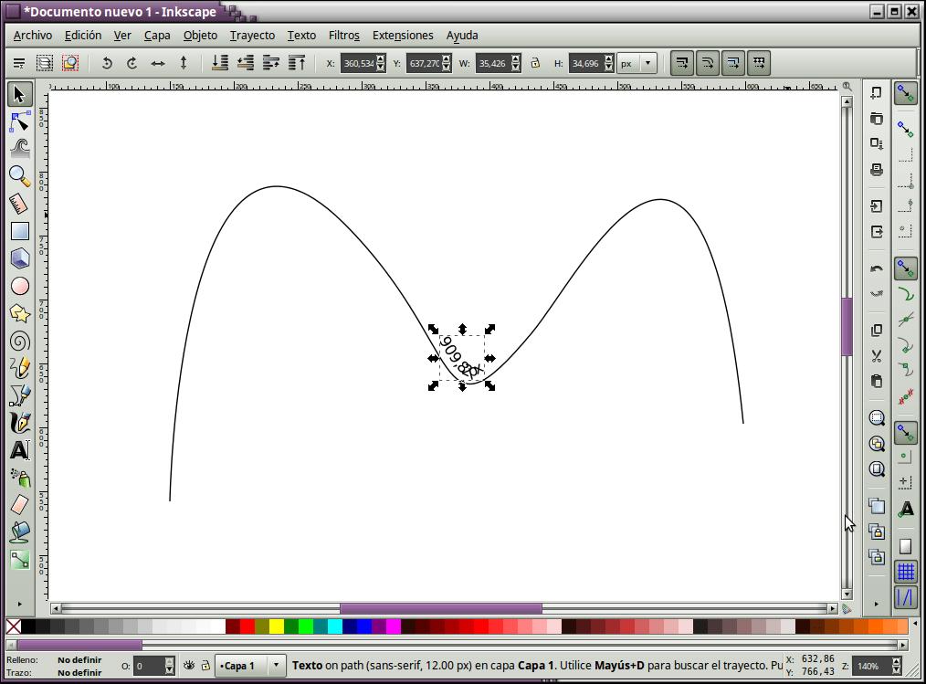 Medir la longitud de una línea en Inkscape
