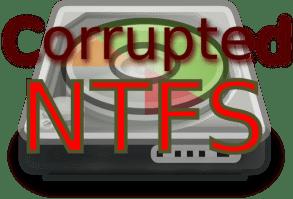 partición NTFS corrupta en linux