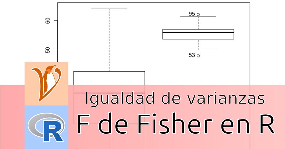 Test F de Fisher en R Commander: homocedasticidad de dos muestras