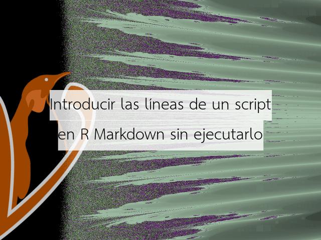 Introducir las líneas de un script en R Markdown