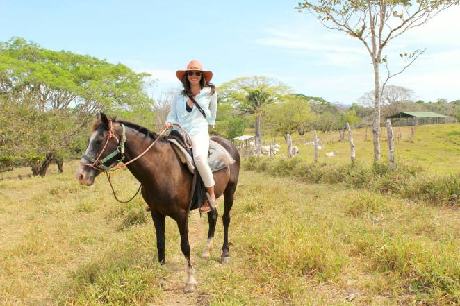 Alexandra on Horseback in Costa Rica