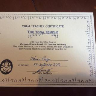 Stefano Teacher Certificate