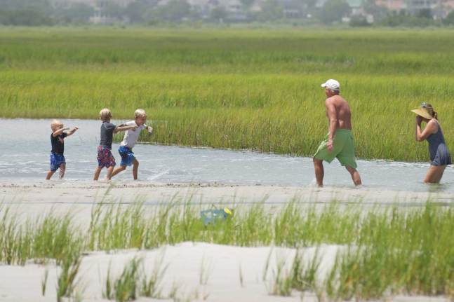 Playing in the Marsh, Wrightsville Beach