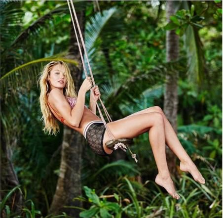 Victoria's Secret Angel on the Swing