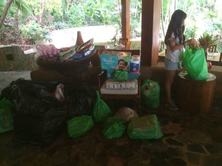 Collecting Supplies for Hurricane Otto Recover