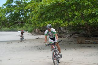 Oscar Biking on the Beach
