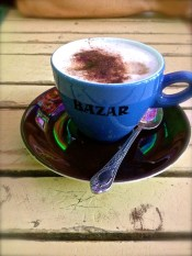 Bazar cappuccino in Amsterdam, this came with a small selection of turkish treats.
