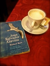 Cafe con leche at Lilipep in Barcelona, great cafe/second hand books.