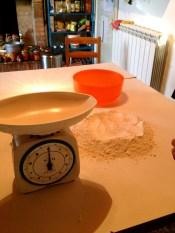 Measure the flour.