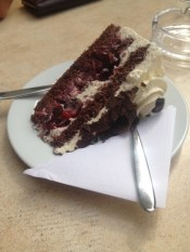 Black Forest Cake in the Black Forest.