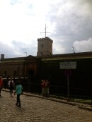 Approaching the castle at Montjuïc.