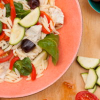 Sun-dried Tomato and Chicken Orzo Salad