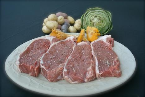 fresh buffalo strip steaks