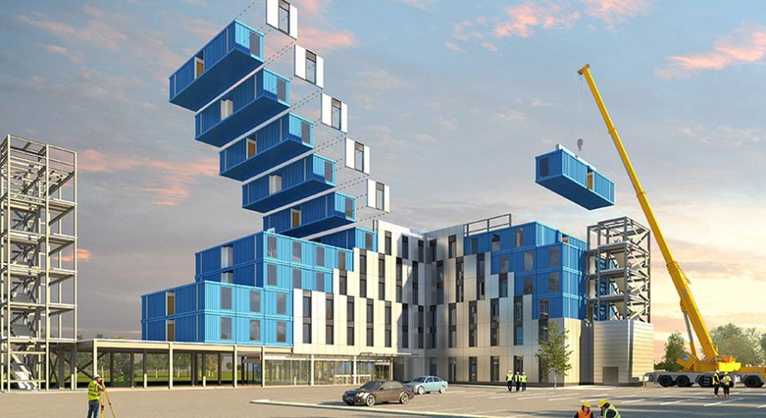 Arquitetura verde: uso de contêineres torna mais rápida e barata a construção de hotéis