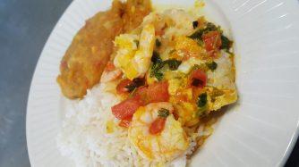 Stew, rice and pirão | Moqueca, arroz e pirão