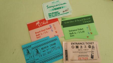 Curaçao ~ Beach tickets | Admissão das praias