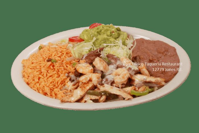 Shrimps Beef & Chicken - Viva Jalisco Restaurant