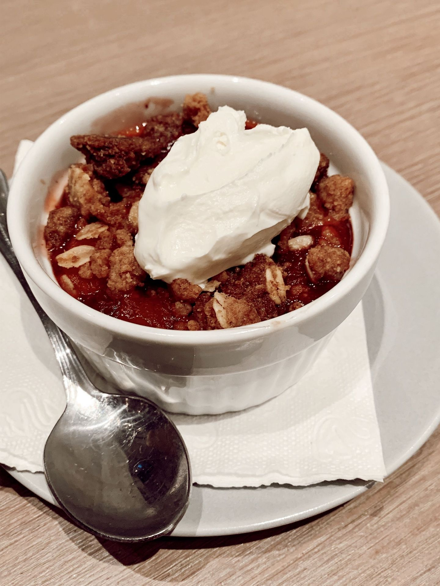STRAWBERRY/PEACH CRUMBLE