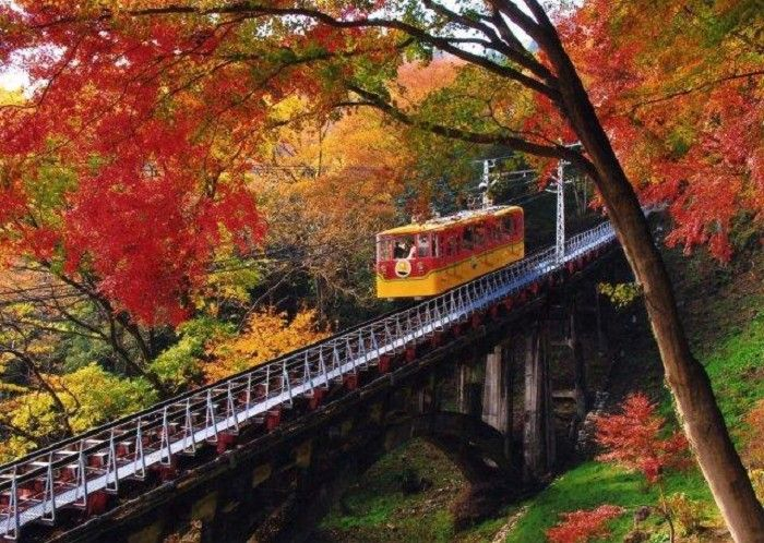 cable car in Mount Takao