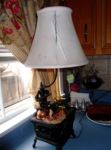 The before lamp shade