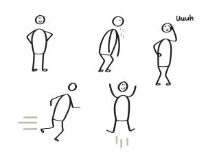 Zakelijk Tekenen - Poppetjes: houding en beweging