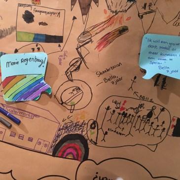 Visueel samenwerken in de praktijk: kinderen tekenen hun wensen voor het dorp - kinderparticipatie