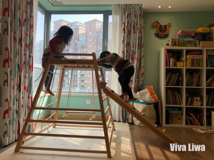 家裡就是運動場!幼兒感統肢體訓練別錯過:Faroro迷你櫸木攀爬架溜滑梯