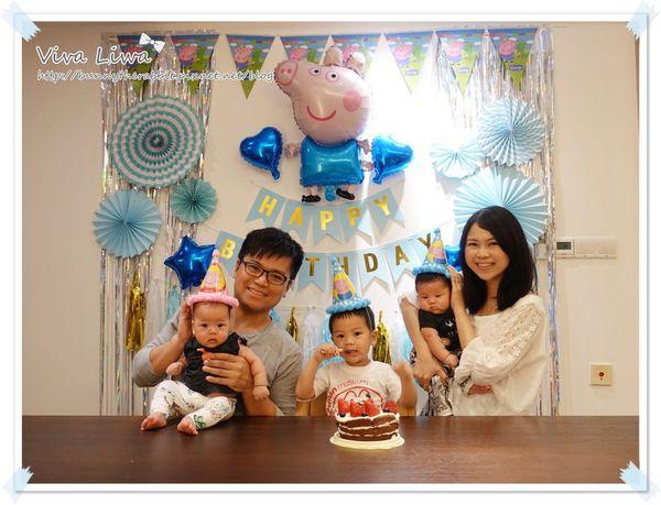 【慶祝】翰翰3歲平淡但不馬虎的慶生會(DIY生日背景牆佈置+自製巧克力戚風蛋糕)