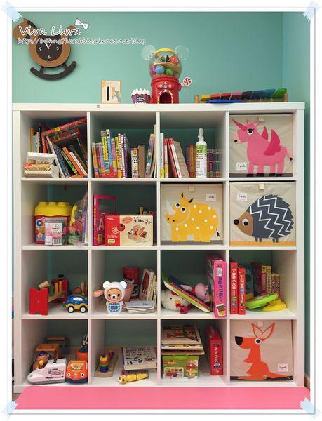 卸貨倒數100-78 翰翰的遊戲室可愛整齊收納術:IKEA櫃子+3 Sprouts收納盒