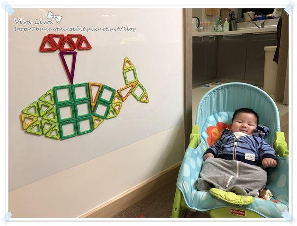 【玩具】翰3Y。淘寶的平價磁力片讓小孩創造力無限!