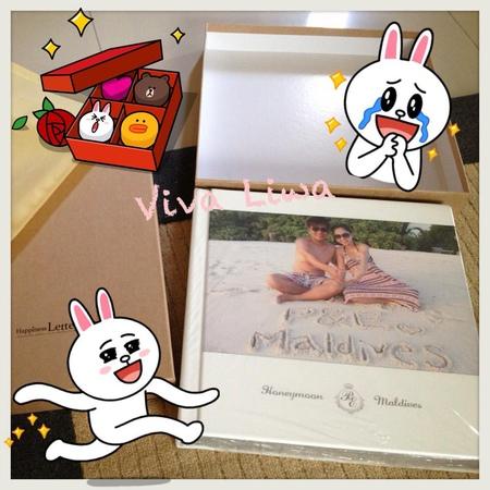♥蜜月♥ 馬爾地夫- 蜜月相本來了!! 幸福手札相本開箱文