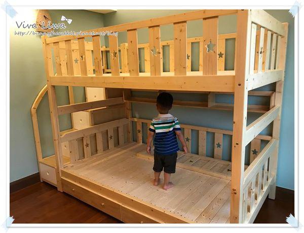 卸貨倒數100-99 訂做兼具收納功能的松木上下舖兒童床(幸福滿屋)