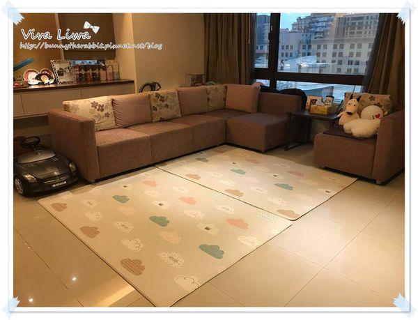 卸貨倒數100-67 放客廳寶寶遊戲墊的好選擇:Parklon韓國帕龍雙面1.2cm地墊