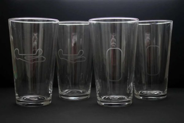 Barber Motorsports Park and IMS oval beer glasses