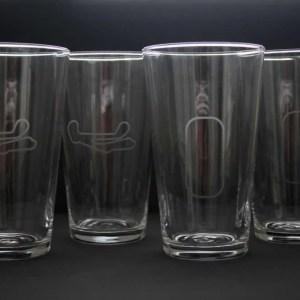 Barber Motorsports Park and IMS oval beer glasses