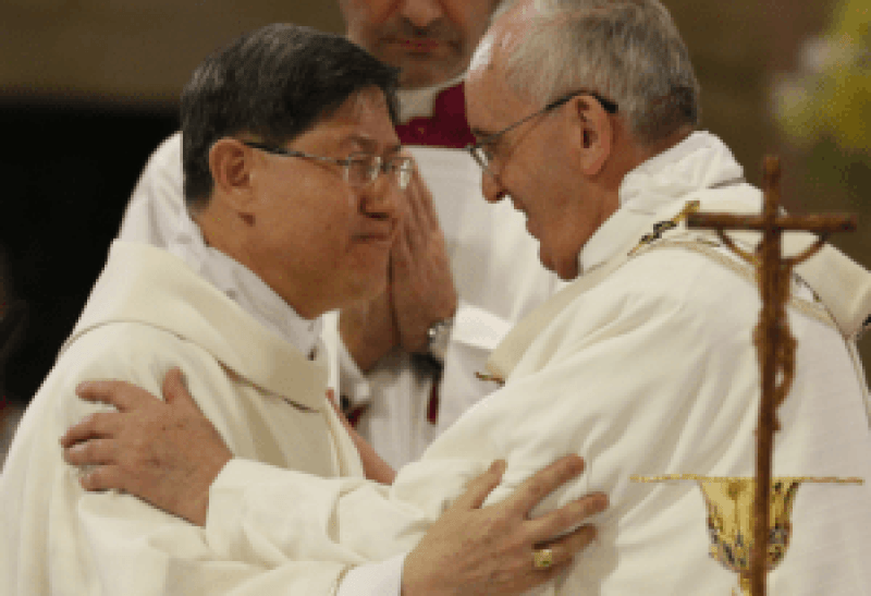 Pope Francis and Cardinal Tagle