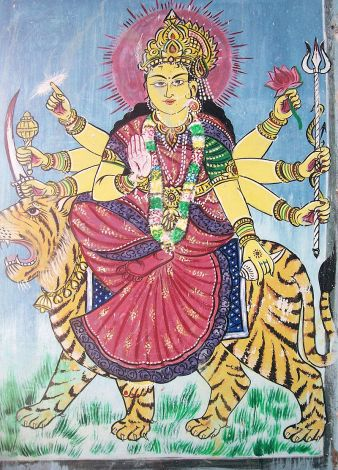 800px-Godess_Durga_painting