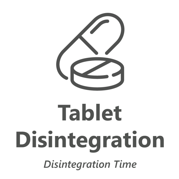 Web store icon for Disintegration Time test for encapsulated cannabis products.