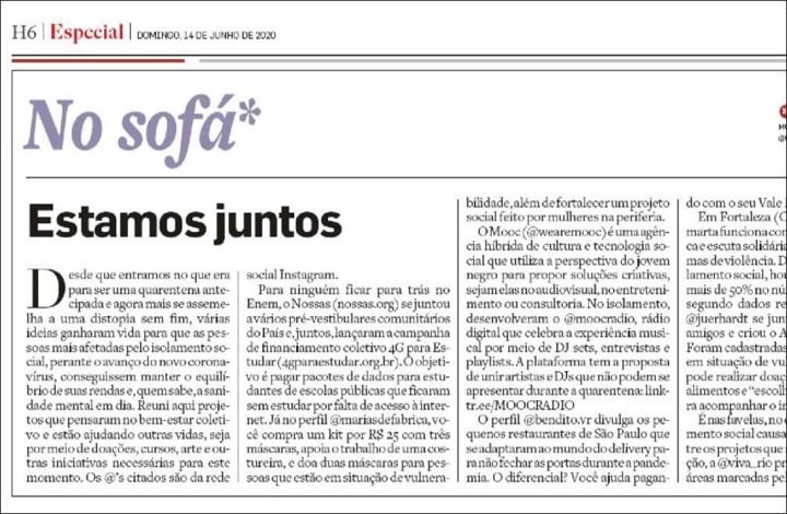 Jornal O Estado de S. Paulo – 14-6-2020