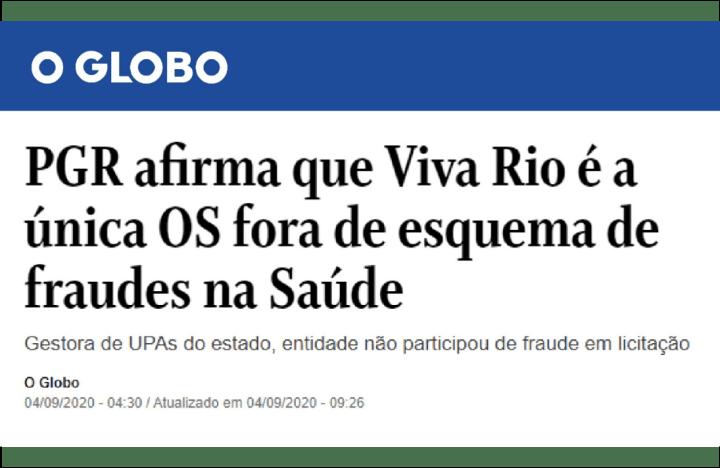 Jornal O Globo – 4-9-2020
