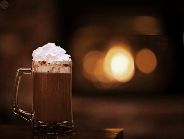 It's the best time to sit by the fireplace with a mug of hot chocolate.