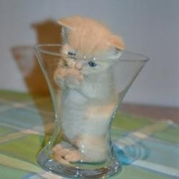 In a smaller glass