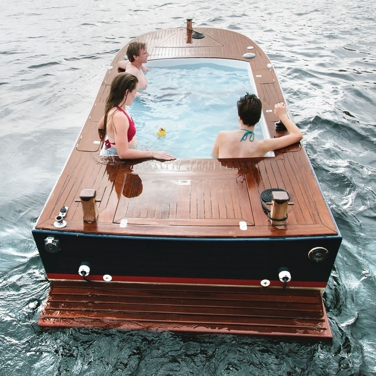 In this hot tub boat in Seattle, Washington.