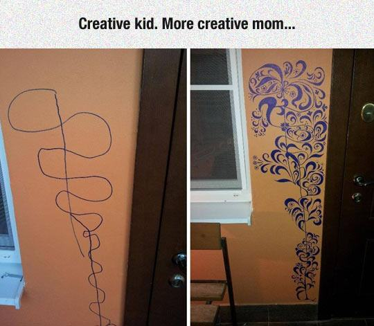 funny kid wall drawing fixed 1