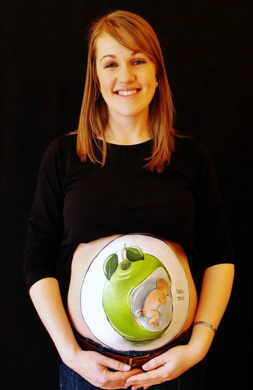 pregnant bump painting carrie preston 17