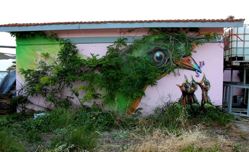 street art interacts with nature 14